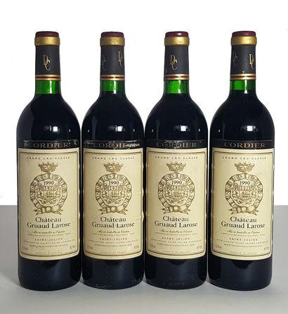 4 bouteilles Château Gruaud Larose, GCC4...