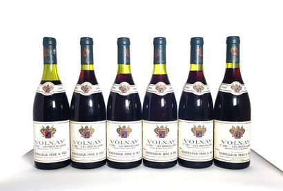 6 bouteilles Volnay 1er cru Les brouillards,...