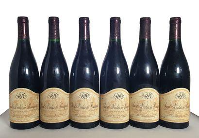 6 bouteilles Saint-Nicolas de Bourgueil,...