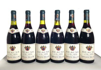 6 bouteilles Beaune 1er cru Grèves, Maison...