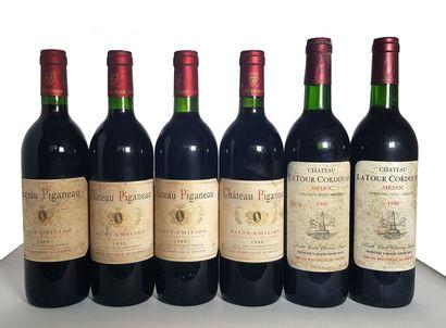 2 bouteilles Médoc Latour Cordouan, Château...