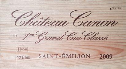12 Bouteilles Château Canon, GCC1B Saint-Émilion,...