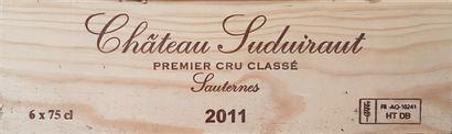 6 Bouteilles Château Suduiraut, C1 Sauternes,...
