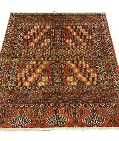 Original Tapis Hatchlou boukhara – Turkmen,...