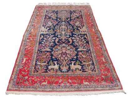 Original tapis Ghoum – Iran, vers 1975  Dimensions...