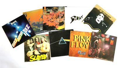 Set of ten 33T Rock, hard rock and pop vinyl...