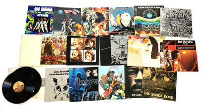 Set of nineteen 33T Pop and Rock vinyl records...