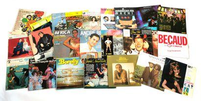 Set of twenty-five 33T vinyl variety records...