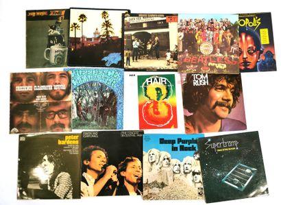 Set of thirteen 33T Pop and Rock vinyl records...