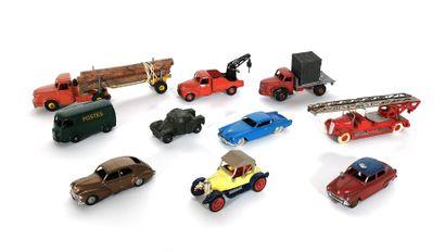 *DINKY TOYS  Set of ten miniature vehicles...