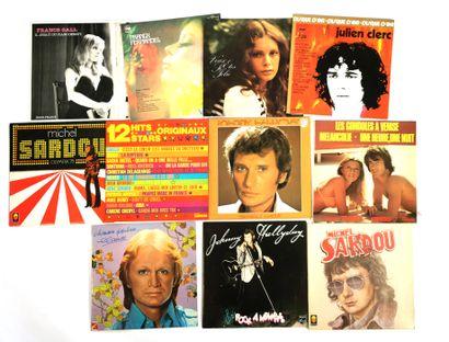 Set of twelve 33T vinyl records of French...