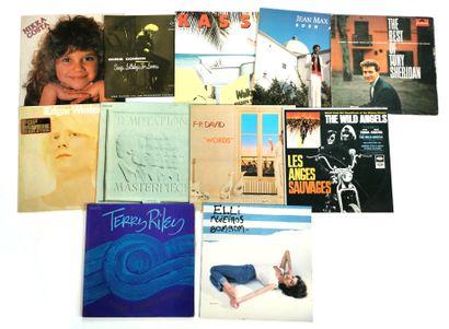 Set of eleven 33T vinyl records including...