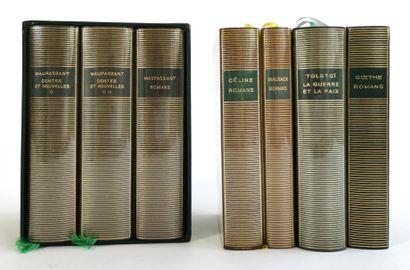 LA PLÉÏADE - seven volumes  - MAUPASSANT,...