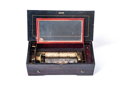 19th century scroll music box  The case in...