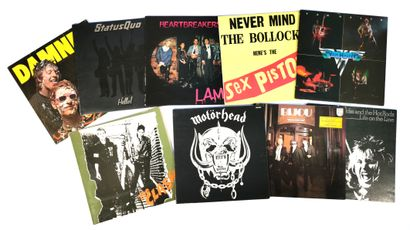 Set of nine 70's rock LPs including The Clash,...