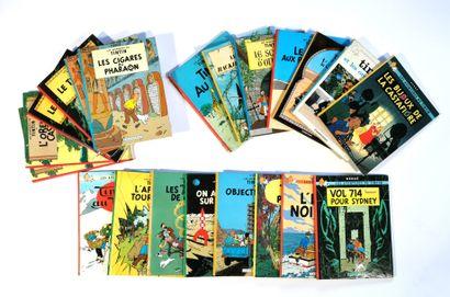 HERGÉ - Tintin  Twenty-one comics (three...