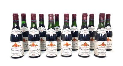 12 1/2 bouteilles Chapoutier 1983, Hermitage...