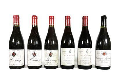 6 Bouteilles :  - 3 Domaine Jean Maréchal...