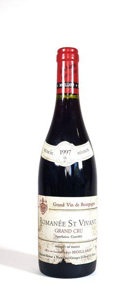 1 Bouteille Moillard 1997, Romanée Saint-Vivant...
