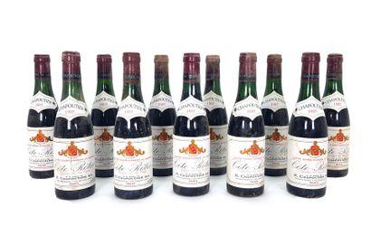 11 1/2 bouteilles Chapoutier 1985, Côte-Rôtie...