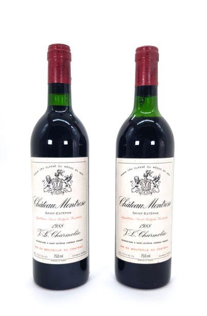 2 Bouteilles Château Montrose 1988, GCC2...