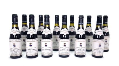 12 1/2 bouteilles Chapoutier 1990, Hermitage...