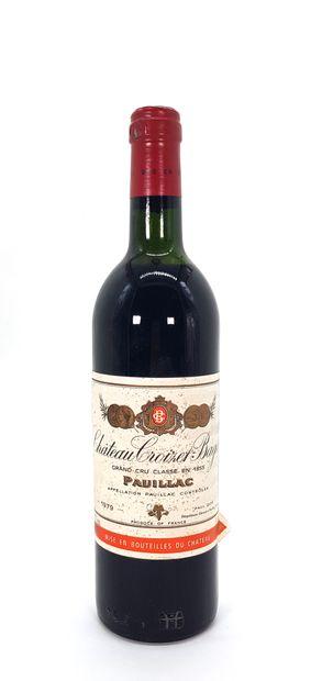 1 Bouteille Château Croizet-Bages1979,...