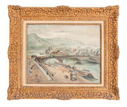 Abel GERBAUD (1888-1954)  Le port de Rouen...