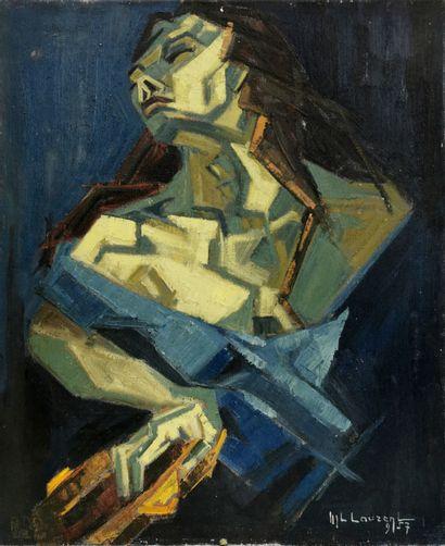 M.L. LAURENT (École du XXe siècle)  Portrait...