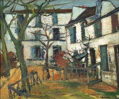 Louis CHERVIN (1905-1969)  Le jardin du Boulodrome...