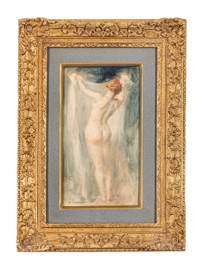 Antoine CALBET (1860-1944)  Nue féminin au...