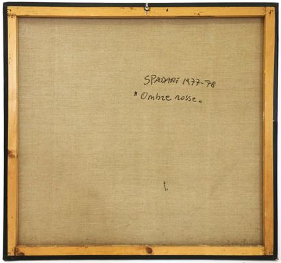 *Giangiacomo SPADARI [italien] (1938-1997)  Ombre rosse, 1977/78  Acrylique sur...