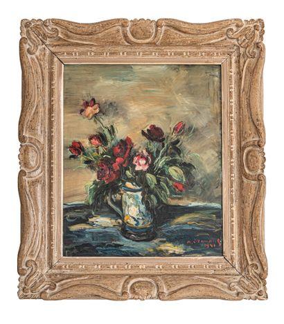 Armand DROUANT (1898-1978)  Bouquet de fleur...