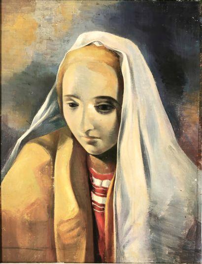 Jean PEYRISSAC (1895-1974)  Femme au voile...