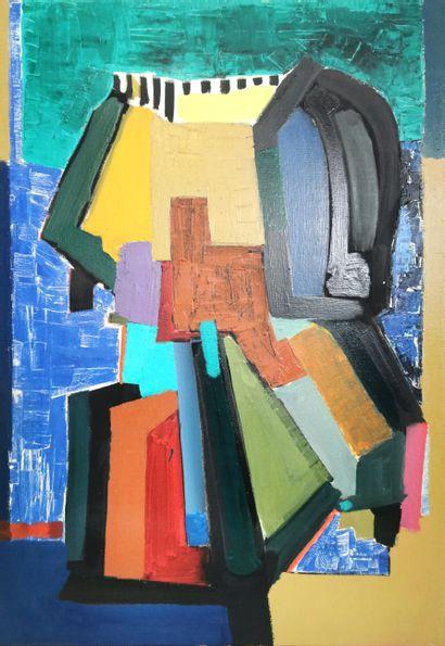 Xavier ZEVACO (1925-2006)  Composition abstraite...