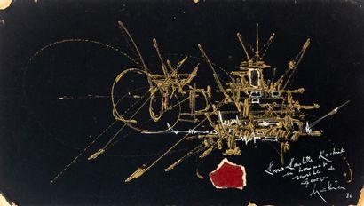 Georges MATHIEU (1921-2012)  Composition...