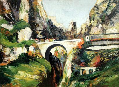 Élisée MACLET (1881-1962)  Les Gorges du...