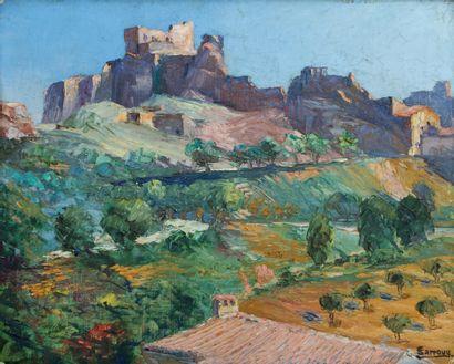 Marius SARROUY (1934-2020)  Paysage méridional...