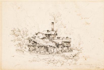 Eugène BLERY (1805-1887)  La fonderie à Allevard...