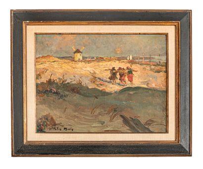Vitalis MORIN (1867-1936)  Plage bretonne...