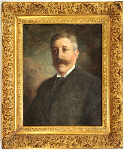 Édouard GELHAY (1856-1939)  Portrait de gentleman...