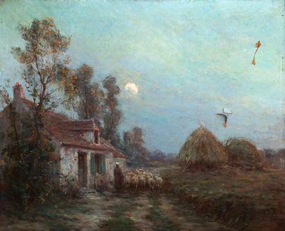Gustave GUIGNERY (1869-1941)  Bergère et...