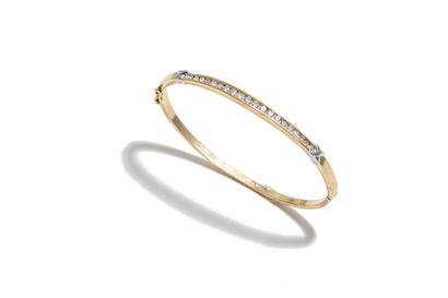 Bracelet rigide ouvrant deux ors 14K (585...