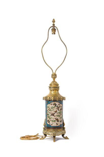 Japon, XIXe siècle  Vase cylindrique en émaux...