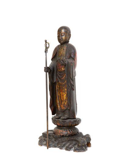 Japon, XIXe siècle  Belle sculpture représentant...