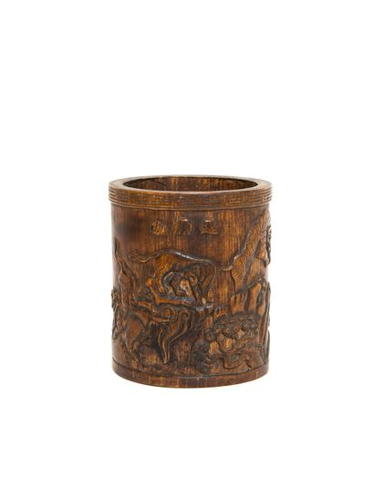 Chine, XIXe - XXe siècle  Pot à pinceaux...