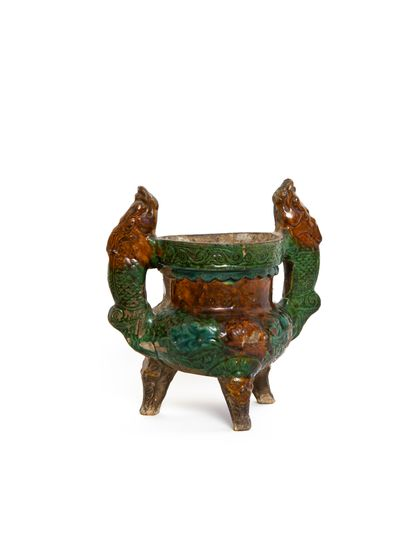 Chine, dynastie Ming  Brûle-parfum tripode...