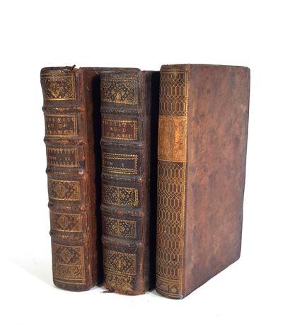 Trois ouvrages de droit reliés - XVIIIe et...