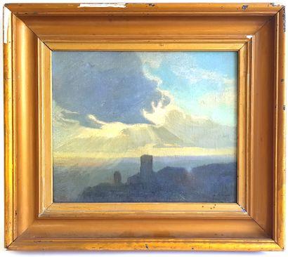 Charles-Marie DULAC (1866-1898)  Assisi, 1997  Huile sur toile signée, titrée et...