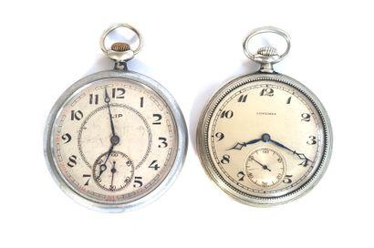 LONGINES et LIP, vers 1930  Deux montres...